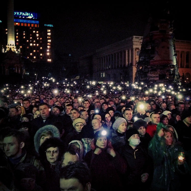 Big crowds for former PM Yulia #tymoshenko, Feb. 22, 2014. #euromaidan #kyiv #ukraine #київ #україна #евромайдан #тимошенко #primecollective