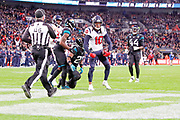 Houston Texans Wide Receiver DeAndre Hopkins (10)  celebration during the International Series match between Jacksonville Jaguars and Houston Texans at Wembley Stadium, London, England on 3 November 2019.