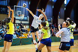 during the handball match between RK Krim Mercator and ZRK Z'Dezele Celje in Last Round of Slovenian National Championship 2017/18, on May 16, 2017 in Dvorana Galjevica, Ljubljana, Slovenia. Photo by Matic Klansek Velej / Sportida