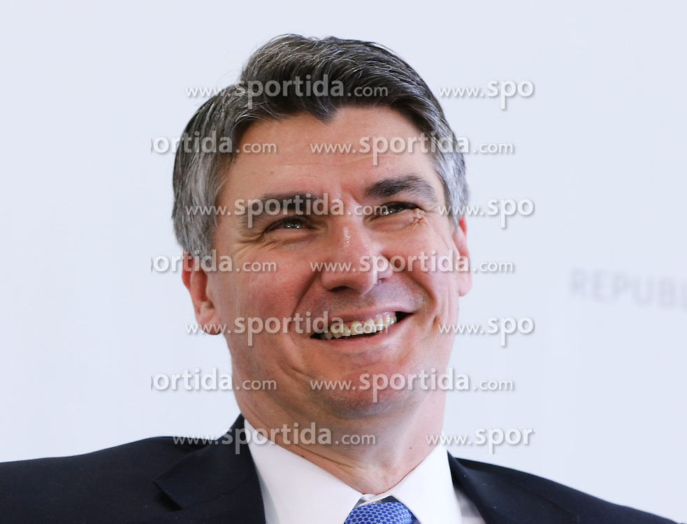 28.03.2015, Congress, Schladming, AUT, Bundeskanzler Werner Faymann trifft Ministerpraesident Miro Cerar, Slowenien, Premierminister Zoran Milanovic, Kroatien, sowie Vizepraesident der Europaeischen Kommission Maros Sefcovic, Kommissar fuer die Energieunion, im Bild Zoran Milanovic // Croatian Prime Minister Zoran Milanovic during a meeting at congress center in Schladming, Austria on 2015/03/28, EXPA Pictures © 2015, PhotoCredit: EXPA/ Martin Huber