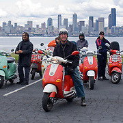 Mod's vs. Rocker's ride to West Seattle with the Vespa Club of Seattle