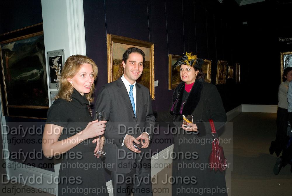 PASCAL MIARIS; LEIA MIARIS; MARTHA CHRYSOMALIS, Preview of Greek Sale sponsored by Citibank. Sotheby's. New Bond st. London. 10 November 2008 *** Local Caption *** -DO NOT ARCHIVE -Copyright Photograph by Dafydd Jones. 248 Clapham Rd. London SW9 0PZ. Tel 0207 820 0771. www.dafjones.com
