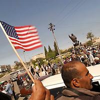 KIRKUK, NORTHERN IRAQ - April 10:  Kirkuk has fallenPeshmergas have entered Kirkuk. Looting is taken place.  Celebrations.  Kirkuk falls into chaos.  (Photo Patrick Barth/Getty Images)