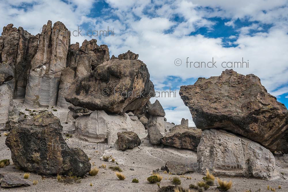 Imata Stone Forest in the peruvian Andes at Arequipa Peru