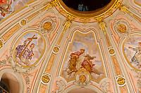 Interior views of the Baroque architecture of the Frauenkirche (church), Dresden, Saxony, Germany