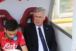 September 23, 2018 - Turin, Piedmont, Italy - Carlo Ancelotti, head coach of SSC Napoli, during the Serie A football match between Torino FC and SSC Napoli at Olympic Grande Torino Stadium on September 23, 2018 in Turin, Italy. (Credit Image: © Massimiliano Ferraro/NurPhoto/ZUMA Press)