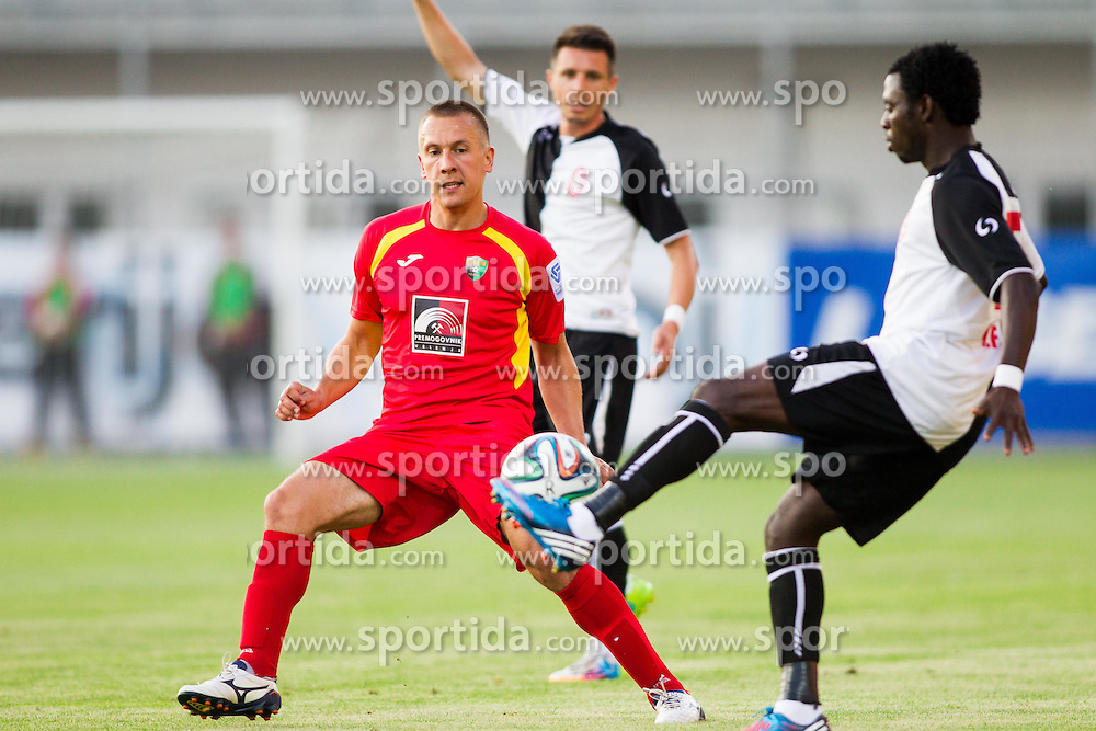 Nemanja Stjepanovic of Rudar during football match between NK Rudar Velenje and KF Laci (Albania) in 1st Round of UEFA Europa League Qualifications on July 3, 2014 in Arena Petrol, Celje, Slovenia. Photo By Vid Ponikvar / Sportida