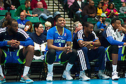 Ricky Ledo (7) of the Texas Legends looks on from the bench with a smile against the Los Angeles D-Fenders on Friday, January 9, 2015 at the Dr. Pepper Arena in Frisco, Texas. (Cooper Neill/Special Contributor)