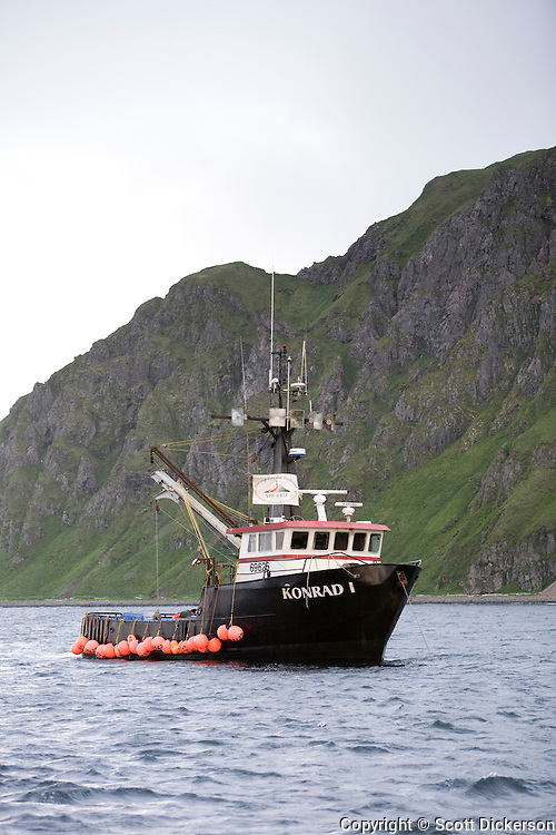 The Konrad I, a commercial fishing tender vessel in the Eastern Aleutian Islands, area M region.