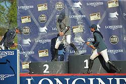 Beerbaum Ludger, (GER), Smolders Harrie, (NED), Bluman Daniel, (COL)<br /> Longines Global Champions Tour - Grand Prix of Hamburg<br /> Hamburg - Hamburger Derby 2016<br /> © Hippo Foto - Stefan Lafrentz