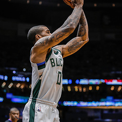 Dec 13, 2017; New Orleans, LA, USA; Milwaukee Bucks guard Gary Payton II (0) shoots against the New Orleans Pelicans during the second quarter at the Smoothie King Center. Mandatory Credit: Derick E. Hingle-USA TODAY Sports
