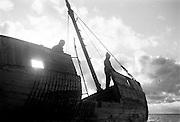 Skeppsvrak på Fårö, Gotland. 1960.