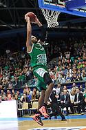 Wroclaw 19/10/2014<br /> Tauron Basket Liga<br /> Sezon 2014/2015<br /> Mecz WKS Slask Wroclaw v Stelmet Zielona Gora<br /> Na zdj. Quinton Hosley /Stelmet/<br /> Fot. Piotr Hawalej