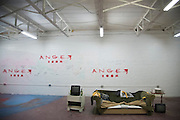 One of the setups the Anger Room in Dallas, Texas where everything is set to be broken on November 18, 2016. (Cooper Neill for The New York Times)
