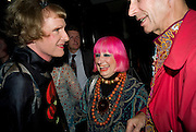 GRAYSON PERRY; ZANDRA RHODES; ANDREW LOGAN, The Presentation of the Montblanc de la Culture Arts Patronage Award to Anthony D'Offay. Tate Modern. 16 April 2009<br /> GRAYSON PERRY; ZANDRA RHODES; ANDREW LOGAN, The Presentation of the Montblanc de la Culture Arts Patronage Award to Anthony D'Offay. Tate Modern. 16 April 2009 *** Local Caption *** -DO NOT ARCHIVE-© Copyright Photograph by Dafydd Jones. 248 Clapham Rd. London SW9 0PZ. Tel 0207 820 0771. www.dafjones.com.