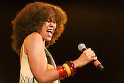 "Photos of singer Amel Larrieux performing at City Parks Foundation's SummerStage gala event, ""The Music of Jimi Hendrix"", at Rumsey Playfield in Central Park, NYC. June 5, 2012. Copyright © 2012 Matthew Eisman. All Rights Reserved."