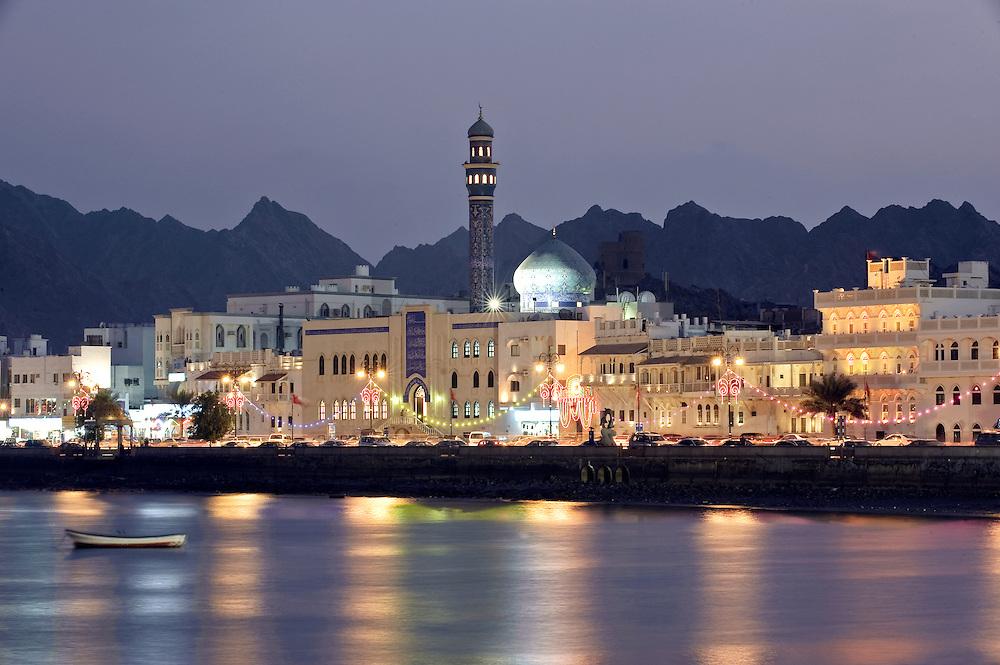 Muttrah, Sultanate of Oman, 29 November 2008<br /> View of the corniche in Muttrah city.<br /> Photo: Ezequiel Scagnetti