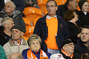 Pensive Blackpool supporters pre-match during the EFL Sky Bet League 1 match between Blackpool and Rochdale at Bloomfield Road, Blackpool, England on 26 September 2017. Photo by Daniel Youngs.