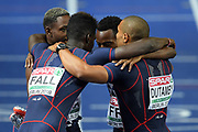 Mouhamadou Fall, Marvin Rene, Meba-Mickael Zeze, Stuart Dutamby compete in men relay 4x100m during the European Championships 2018, at Olympic Stadium in Berlin, Germany, Day 6, on August 12, 2018 - Photo Philippe Millereau / KMSP / ProSportsImages / DPPI