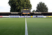 Wimbledon dug out during the EFL Sky Bet League 1 match between AFC Wimbledon and Gillingham at the Cherry Red Records Stadium, Kingston, England on 12 September 2017. Photo by Matthew Redman.