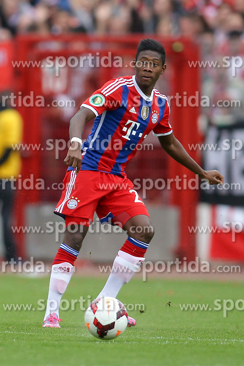 17.08.2014, Preussenstadion, Muenster, GER, DFB Pokal, SC Preussen Muenster vs FC Bayern Muenchen, 1. Runde, im Bild David Alaba (FC Bayern Muenchen #27) // during the 1st round match of German DFB Pokal between SC Preussen Muenster vs FC Bayern Munich at the Preussenstadion in Muenster, Germany on 2014/08/17. EXPA Pictures &copy; 2014, PhotoCredit: EXPA/ Eibner-Pressefoto/ Schueler<br /> <br /> *****ATTENTION - OUT of GER*****