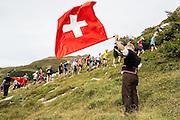 Fahnenschwenker am 21. Jungfrau Marathon 2013