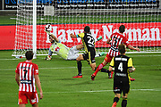 Phoenix keeper Filip Kurto makes save during their Hyundai A League match. Wellington Phoenix v Melbourne City FC. Westpac Stadium, Wellington, New Zealand. Saturday 26 January 2019. ©Copyright Photo: Chris Symes / www.photosport.nz