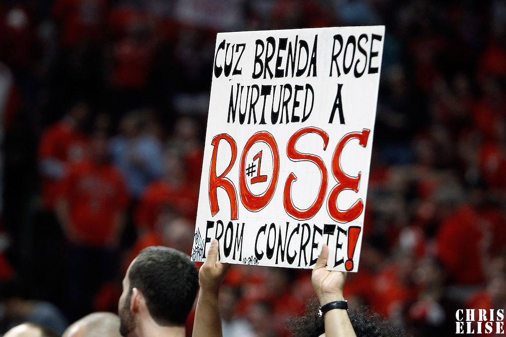 10 May 2011: A fan shows a sign during the Chicago Bulls 95-83 victory over the Atlanta Hawks, during game 5 of the Eastern Conference semi finals at the United Center, Chicago, Illinois, USA.