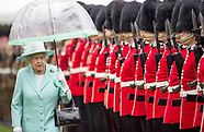 Queen Elizabeth Presents New Colours To Scot Guards