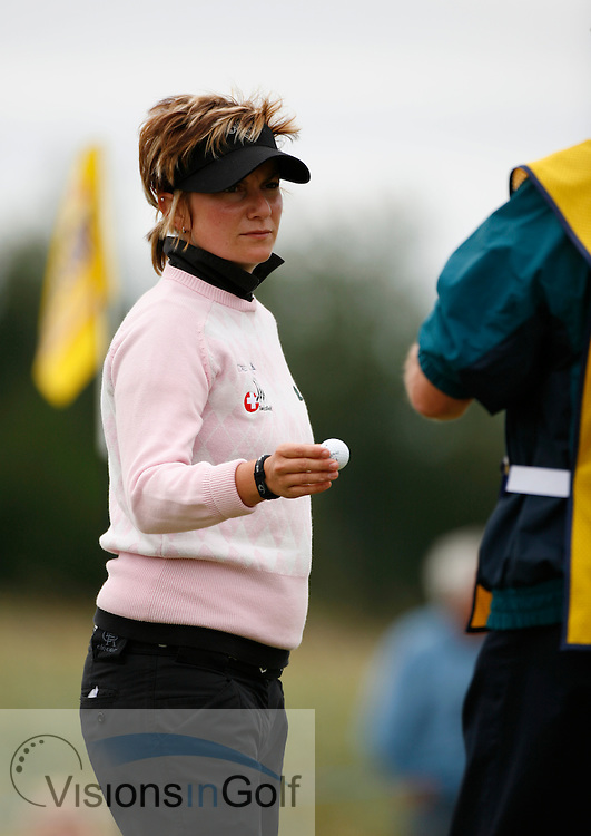 Frederique Seeholzer on the second day.<br /> Weetabix Womens British Open 2006, Royal Lytham St. Annes, 040806<br /> Picture Credit: Mark Newcombe / visionsingolf.com