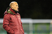 Arsenal U21 manager Freddie Ljungberg during the EFL Trophy group stage match between Forest Green Rovers and U21 Arsenal at the New Lawn, Forest Green, United Kingdom on 7 November 2018.