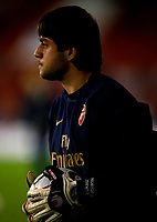 Photo: Steve Bond.<br /> Sheffield United v Arsenal. Carling Cup. 31/10/2007. Lukasz Fabianski