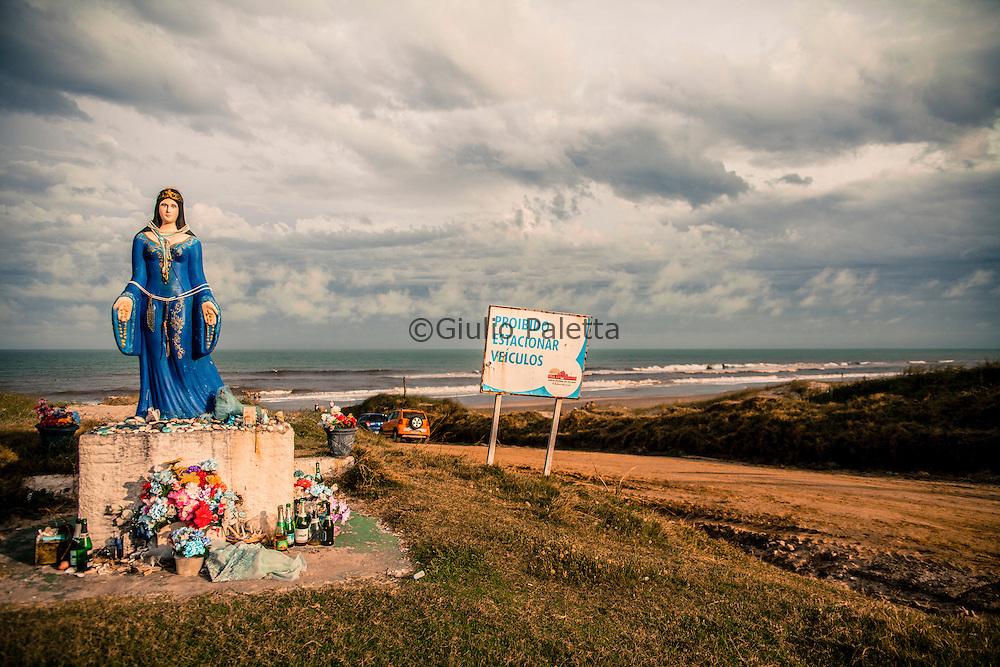 Rio Grande so Sul, Barra do Chui beach: The southernmost beach of Brazil. Border Brazil - Uruguay