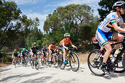 Amanda Spratt (AUS) crosses the gravel sector on Stage 3 of 2020 Santos Women's Tour Down Under, a 109.1 km road race from Nairne to Stirling, Australia on January 18, 2020. Photo by Sean Robinson/velofocus.com