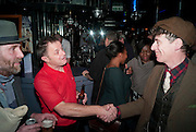 ROBERT PERENO; GRAHAM SMITH; GAZ MAYALL; , Launch of  Photography bookÔWe Can Be Heroes: London Clubland 1976 Ð 84Õ by Graham Smith.  Moonlighting (formerly Le Beat Route), 17 Greek St, Soho, London, 8 December 2011<br /> ROBERT PERENO; GRAHAM SMITH; GAZ MAYALL; , Launch of  Photography book'We Can Be Heroes: London Clubland 1976 – 84' by Graham Smith.  Moonlighting (formerly Le Beat Route), 17 Greek St, Soho, London, 8 December 2011