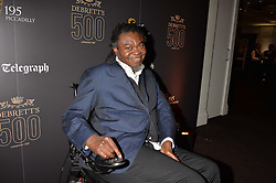 Yinka Shonibarer at the Debrett's 500 Party recognising Britain's 500 most influential people, held at BAFTA, 195 Piccadilly, London England. 23 January 2017.