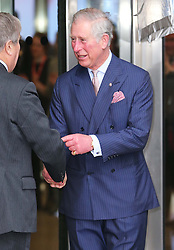 The Prince of Wales leaving the  BBC at New Broadcasting House in London, Tuesday, 11th February 2014. Picture by Stephen Lock / i-Images