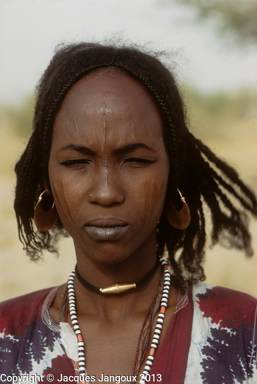 Africa, Sahel region, Chad, Islands of Lake Chad. Portrait of Kanembu woman. The Kanembu speak a Nilo-Saharan language.