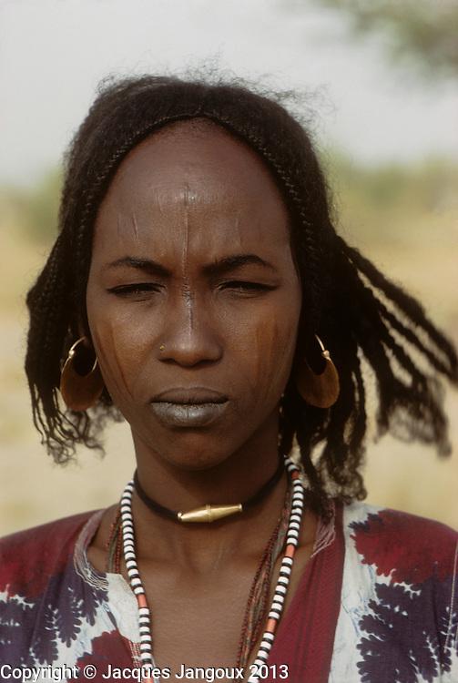 Africa, Sahel region, Chad, Islands of Lake Chad. Portrait of Kanembu woman. The Kanembu speak a Nilo-Saharan language.