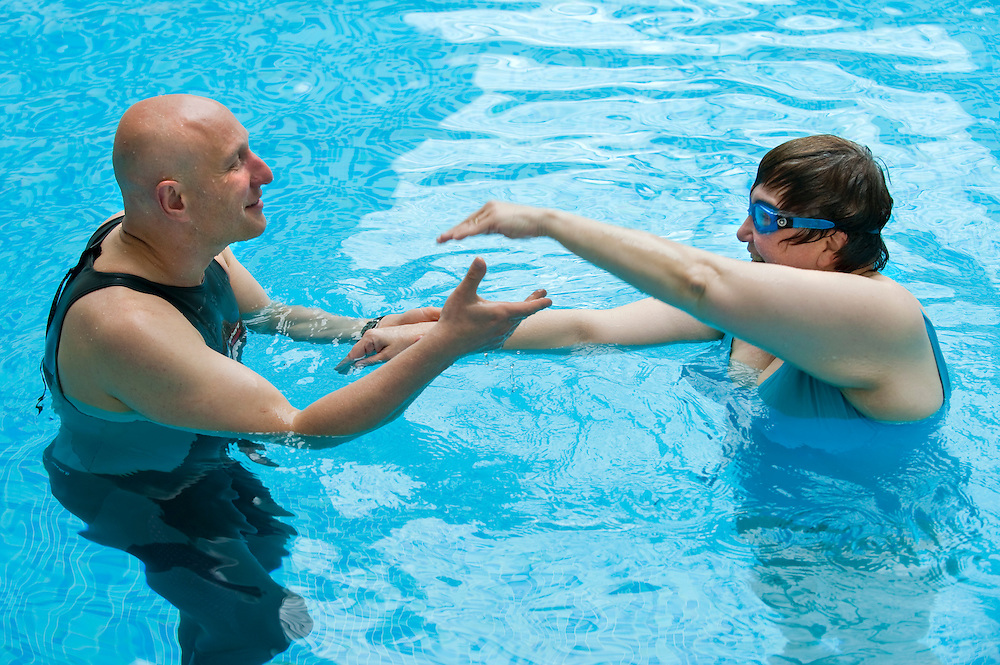 The Art of Swimming workshop with Steven Shaw at Champneys Health Spa in Tring, Hertfordshire.