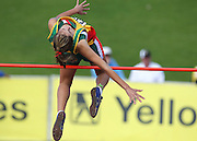 GERMISTON, SOUTH AFRICA, Friday 29 March 2012, Tanya Van Deventer in the high jump during the Yellow Pages South African Junior and Schools Athletic Championships at the Germiston Stadium..Photo by Roger Sedres/Image SA