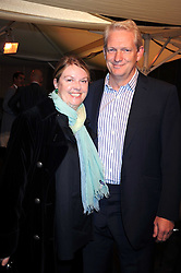 """MR & MRS RICK HAYTHORNTHWAITE he is Chairman Of Southbank Centre Board at an exhibition of work by Andy Warhol entitled """"Other Voices, Other Rooms"""" at The Hayward Gallery, Southbank Centre, London SE1 on 6th October 2008."""