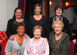 Pictured at the past Pupils reunion of Rossduane N.S. Kilmeena that took place in the Clew Bay Hotel recently were Aishling  Higgins, Orla Walsh and Karen O' Malley, sitting Mairin Higgins, Blath Feehan and Mary O'Malley...Pic Conor McKeown