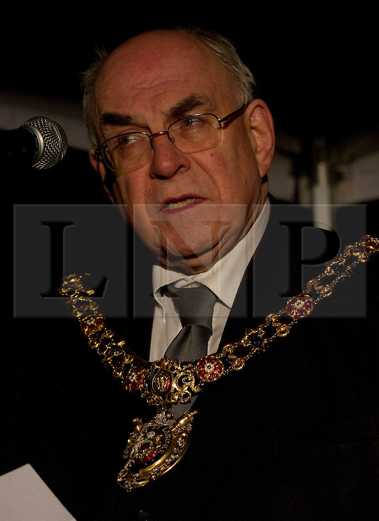 © under license to London News Pictures. 1/12/2010. The Lord Mayor of Manchester, Councillor Mark Hackett, at The Manchester HIV Candlelit Vigil, organised to commemorate the victims of HIV past and present. The event was held in Manchester's Sackville Gardens below the city's AIDS memorial.