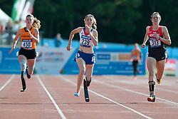 Marlou van Rhijn, Marie-Amelie Le Fur, BENSUSAN Irmgard, 2014 IPC European Athletics Championships, Swansea, Wales, United Kingdom