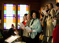 Singing the Old Time Religion at Methodist Advent Christian Church in Lakeport.  Karen Bobotas for the Laconia Daily Sun