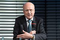 09 NOV 2018, BERLIN/GERMANY:<br /> Prof. Dr. Koen Lenaerts, Praesident des Europaeischen Gerichtshofs, waehrend einer Diskussion nachder von ihm gehaltenen Europa-Rede, einer jaehrlich wiederkehrende Stellungnahme der hoechsten Repraesentanten der Europaeischen Union zur Idee und zur Lage Europas, organisiert von der Konrad-Adenauer-Stiftung, der Stiftung Zukunft Berlin, der Schwarzkopf Stiftung Junges Europa sowie der Stiftung Mercator, Allianz Forum<br /> IMAGE: 20181109-01-106