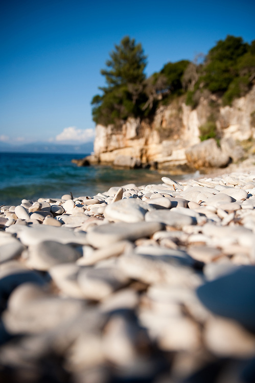 Pebbles of Manadendri beach, Paxoi Manadendri beach, Paxoi, Greece