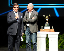 Paul Reinhart accepted the autoTRADER.ca Most Sportsmanlike Player of the Year on behalf of his son Sam Reinhart of the Kootenay Ice at the 2013-14 Canadian Hockey League Awards Ceremony at the Grand Theatre in London, ON on Saturday May 24, 2014. Photo by Aaron Bell/CHL Images