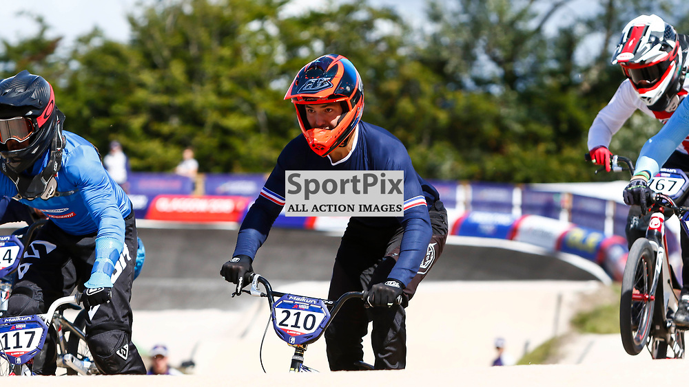 French rider Corentin Dubois has his eyes firmly fixed on the next landing spot during the European Championships in Glasgow.